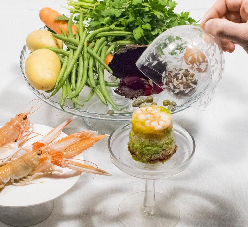 Cappon magro cucinato da Bel Fish Food. Pesce fresco: acciughe liguri cucinate in esclusivi piatti pronti veloci da preparare